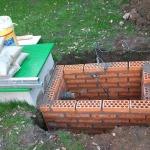 Arqueta de pozo de agua