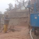 Perforación a  rotopercusión para agua