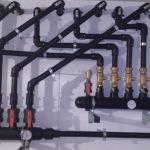 colectores de geotermia (pozos, ida y retorno)