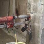 extracciónn de testigo de hormigón en pilar