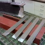 probetas talladas de acero laminado