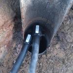 uniones de electrofusion de las sondas en la superficie del pozo